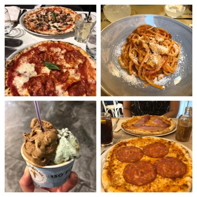 Pizza, Pasta, Gelato